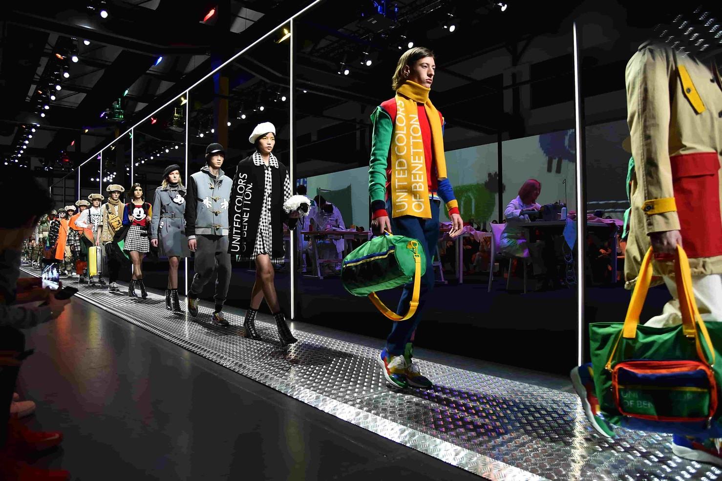 WELCOME TO THE RAINBOW MACHINE  班尼頓米蘭秋冬處女秀  邀米奇、史努比揭開品牌全新風貌